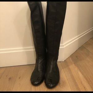 Authentic Chanel leather riding boots